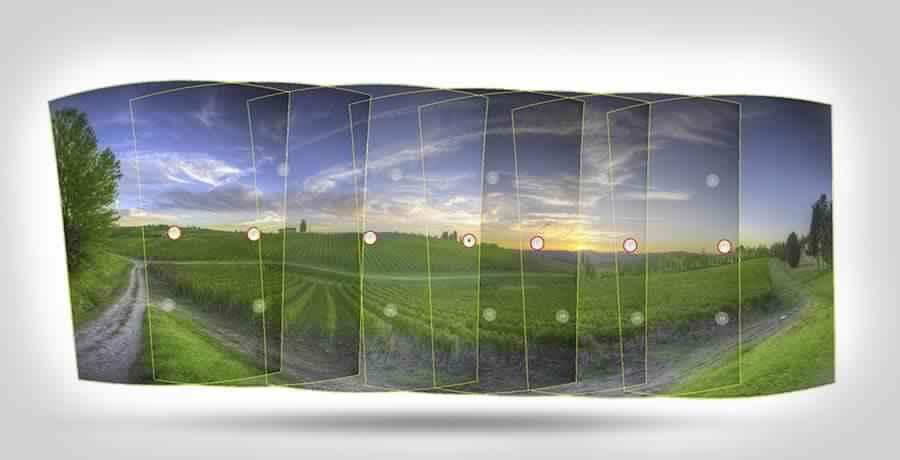 Panoramic image stitching Photoshop