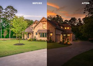 Twilight photo retouching services