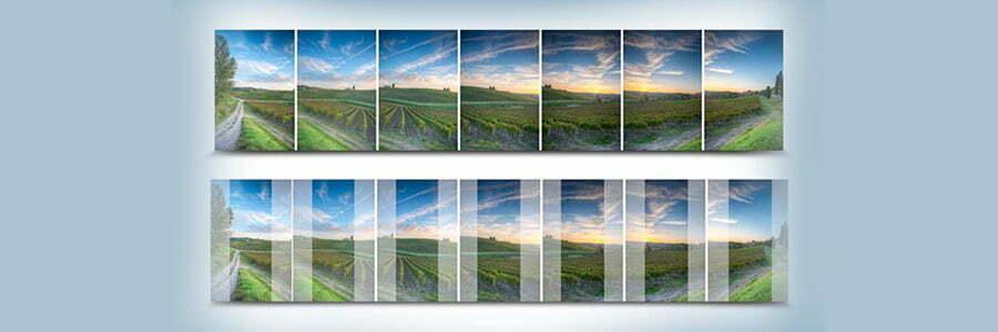 Panoramic stitching with Photoshop