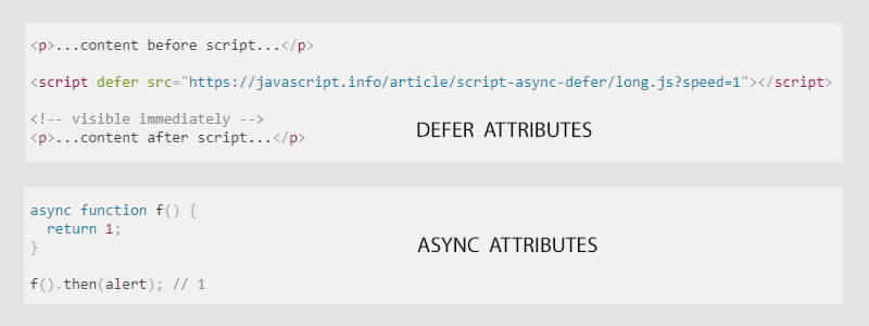 defer and sync attributes