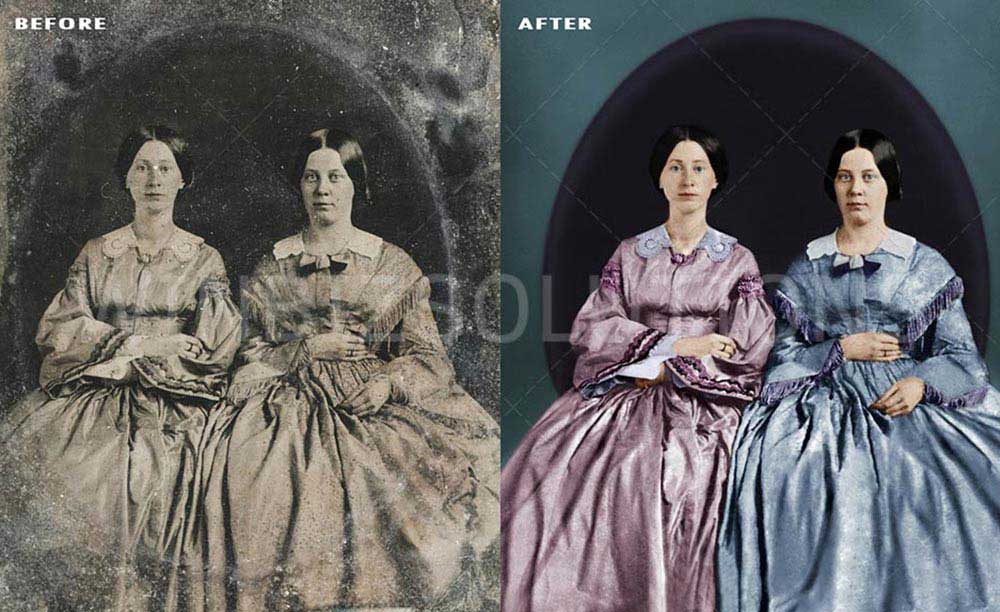 repair old photographs