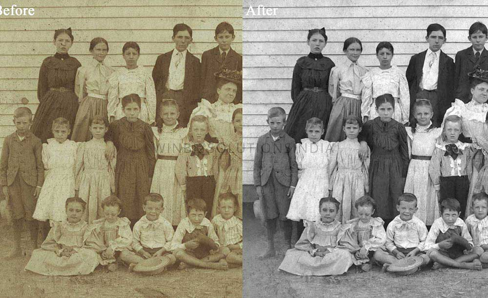 old damaged photo repair