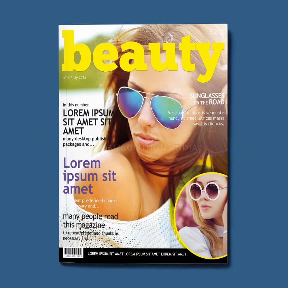 magazine page layout design