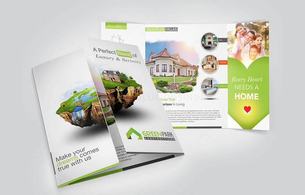 brochure front page design