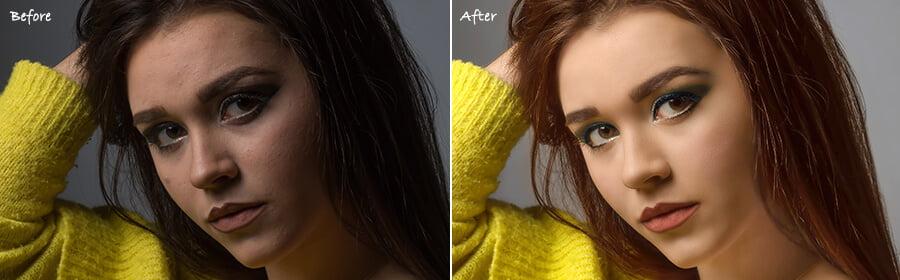 model photo retouching
