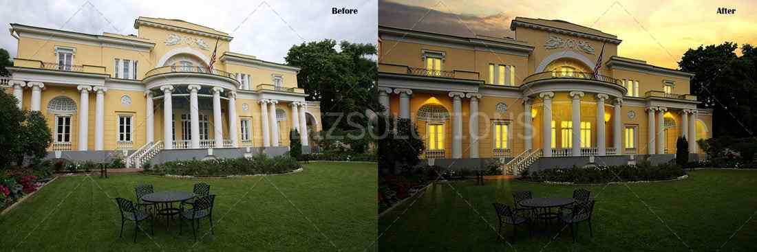 day to night image change