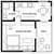 Black and white floor plan
