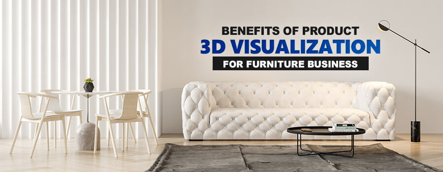 product 3d visualization of furniture